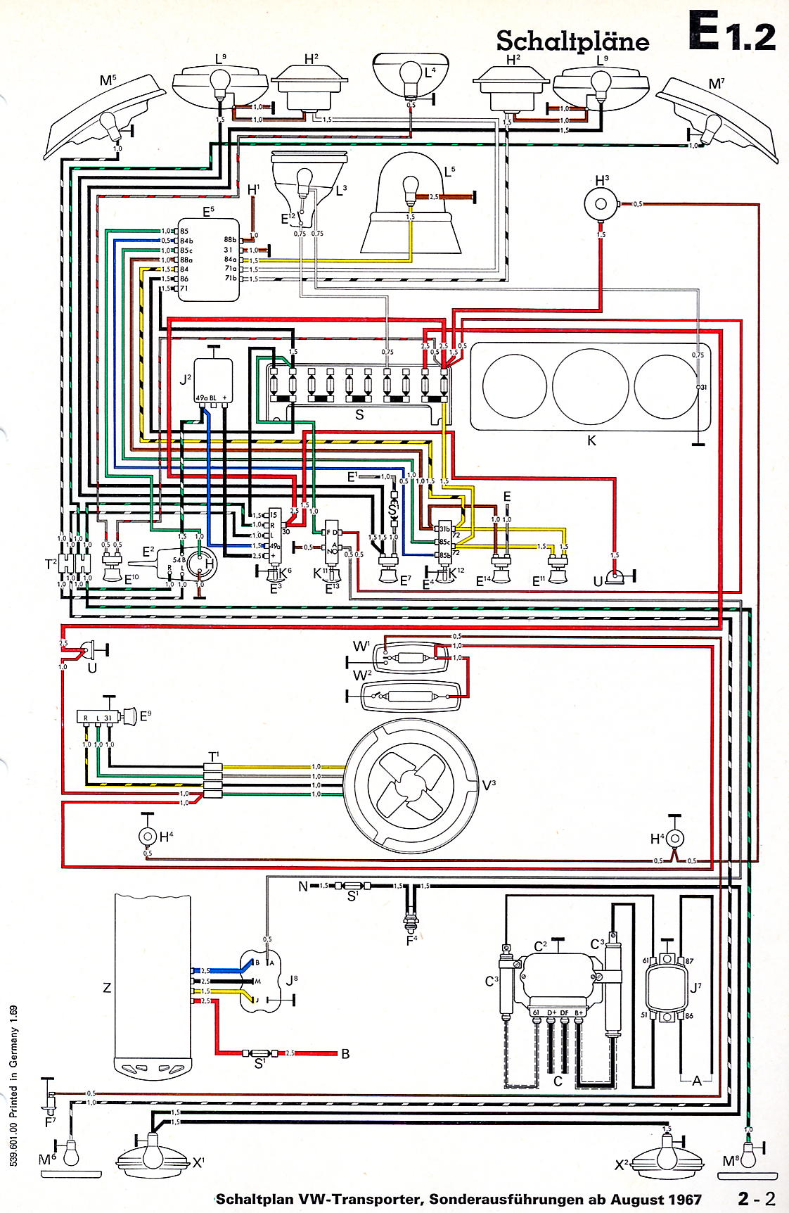 1978 vw bus wiring diagram how to wire 220 volt outlet diagrams 1 2