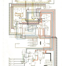 wiring diagram for a 1973 vw super beetle [ 1666 x 2323 Pixel ]