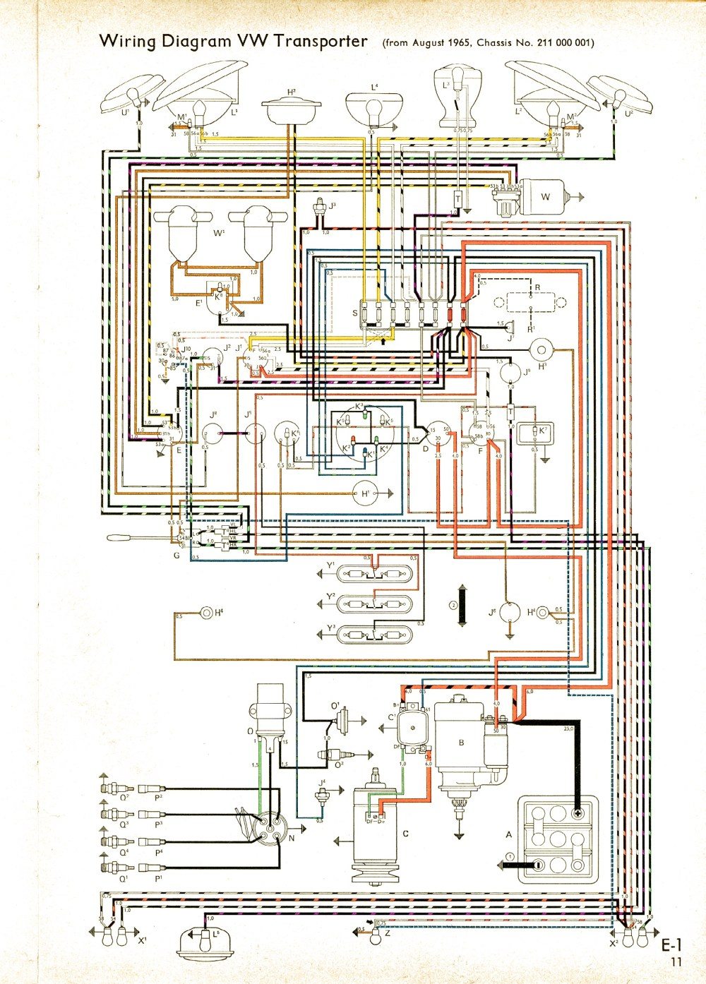 medium resolution of vw wiring diagrams vw power window wire diagram vw 1971 fuse diagram