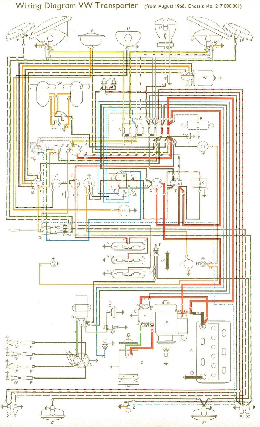 medium resolution of vw wiring diagrams wiring diagram for 1964 vw bus