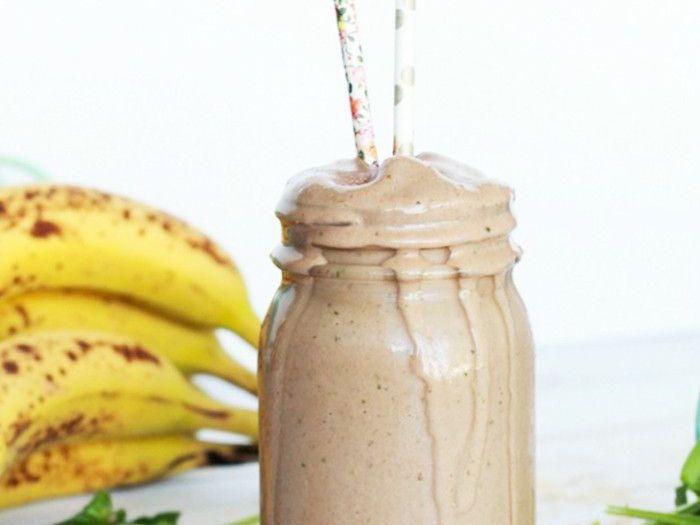 Erdnussbutter Protein Bananen Smoothie