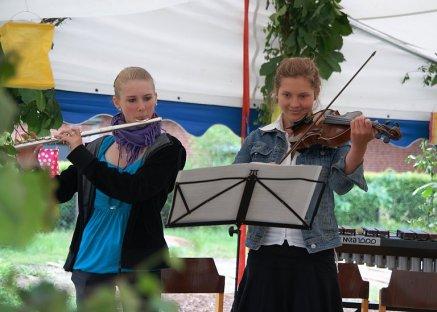 Benefizkonzert Freie Schule Lübberstedt Antje und Judith