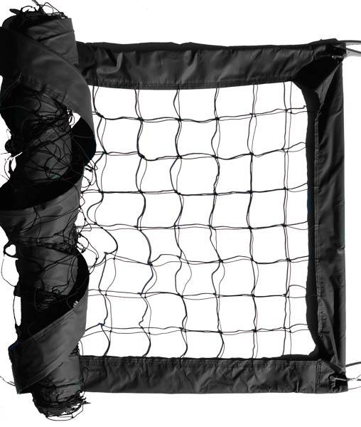 Black Advanced Outdoor Volleyball Net