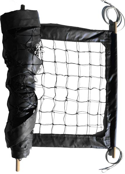 Black Professional Outdoor Volleyball Net