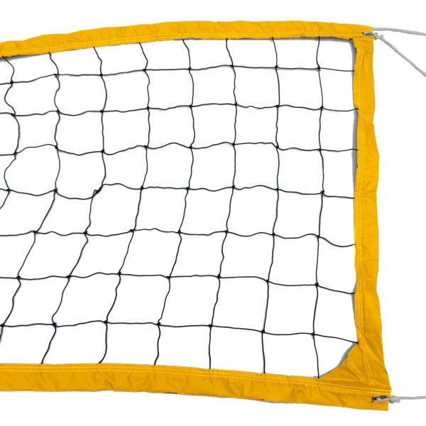 Yellow Outdoor Recreational Volleyball Net