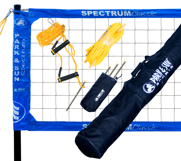 TS-CL-BL Park & Sun Spectrum Classic Portable Volleyball Set