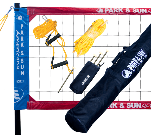 TS-CL-RWB Park & Sun Spectrum Classic Portable Volleyball Set