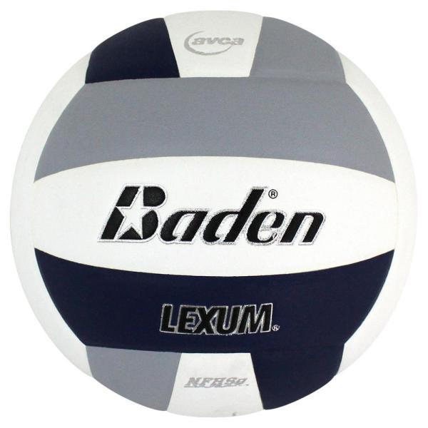 Baden Lexum Microfiber Volleyball Navy White Grey