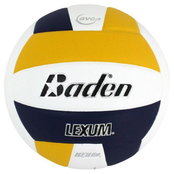 Baden Lexum Microfiber Volleyball Navy White Yellow