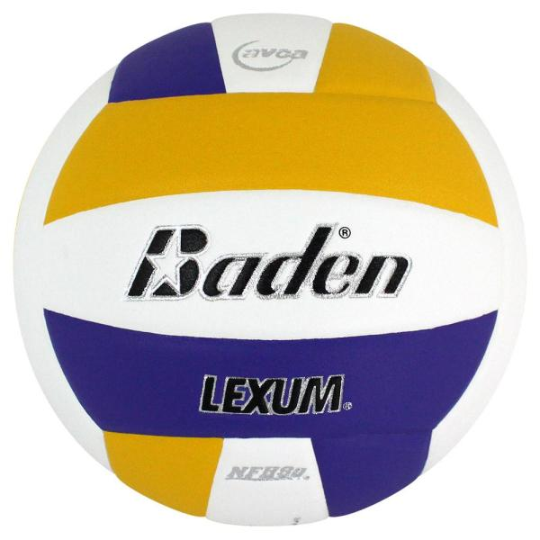 Baden Lexum Microfiber Volleyball Purple White Yellow