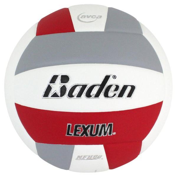 Baden Lexum Microfiber Volleyball Red White Grey