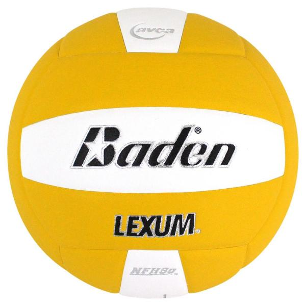 Baden Lexum Microfiber Volleyball Yellow White