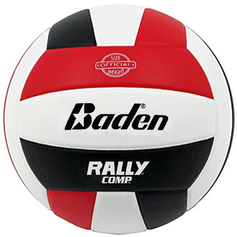 Baden Rally Composite Volleyball Red White Black