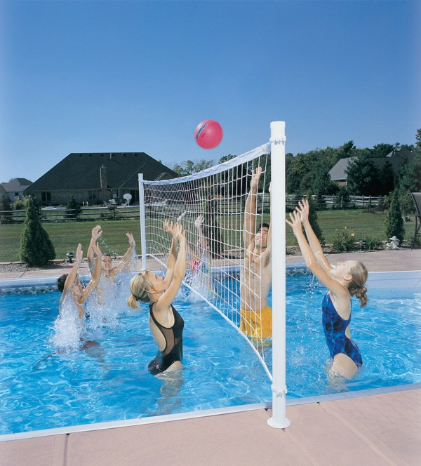 In Deck Residential Pool Volleyball Set