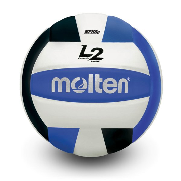 Molten L2 Microfiber Composite Club Ball Black White Blue