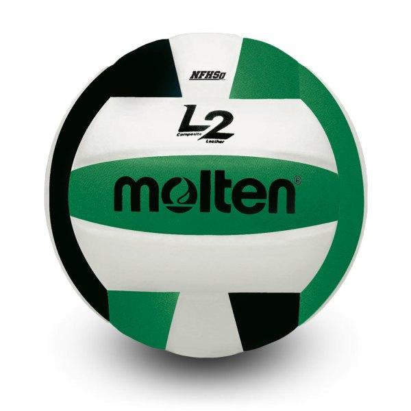Molten L2 Microfiber Composite Club Ball Black White Green