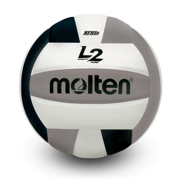 Molten L2 Microfiber Composite Club Ball Black White Silver
