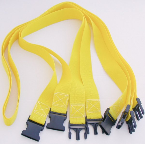Volleyball Court 2 Inch Webbing Court Boundary Line Extender Yellow