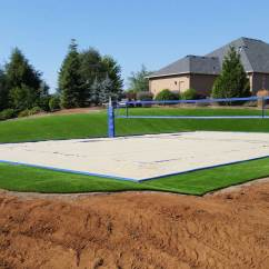 Beach Volleyball Court Diagram Renault Master 2007 Wiring How To Construct A Volleyballusa Com Standard Dimensions Artificial Turf Home With Edgeguard
