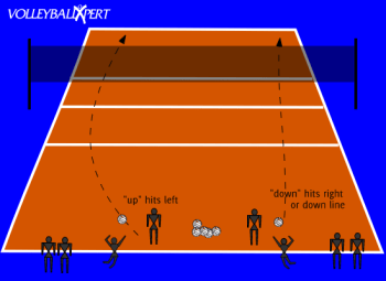 volleyball 4 2 offense diagram plant cell with labels for kids vollebyball jump serve up/down by volleyballxpert.com