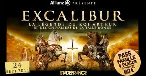 Affiche du spectacle Excalibur