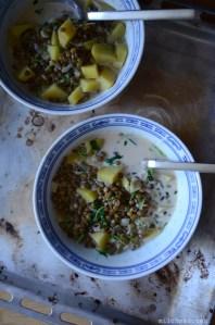 Kartoffeln mit Gewürz-Sahnelinsen | milchmädchen.
