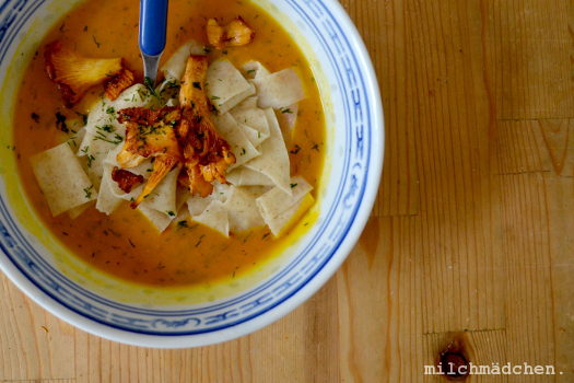Hallo Herbst: Hokkaidosuppe mit Dill