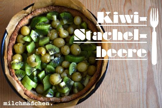 Grün, grün, grün sind alle meine Kuchen: Kiwi-Stachelbeerkuchen mit Mandel-Sahnebaiser
