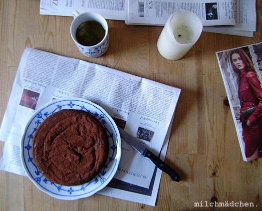 Paul's delight. Oder: Musik und Kuchen in freier Assoziation. Oder: Schoko-Maronenkuchen (& Carrot-Honey-Pie)
