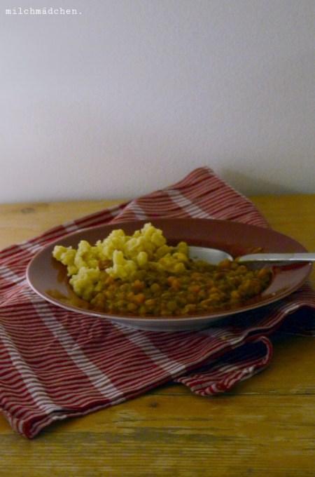 Linsen mit Spätzle und Wienerle | milchmädchen.