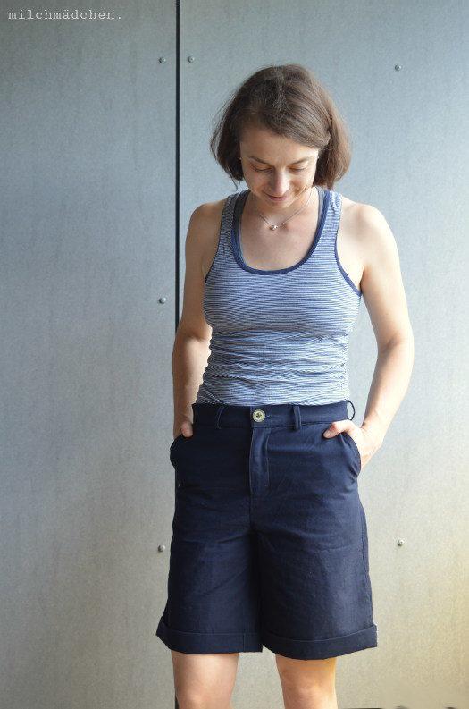 Über kurz oder lang: Marine-Shorts