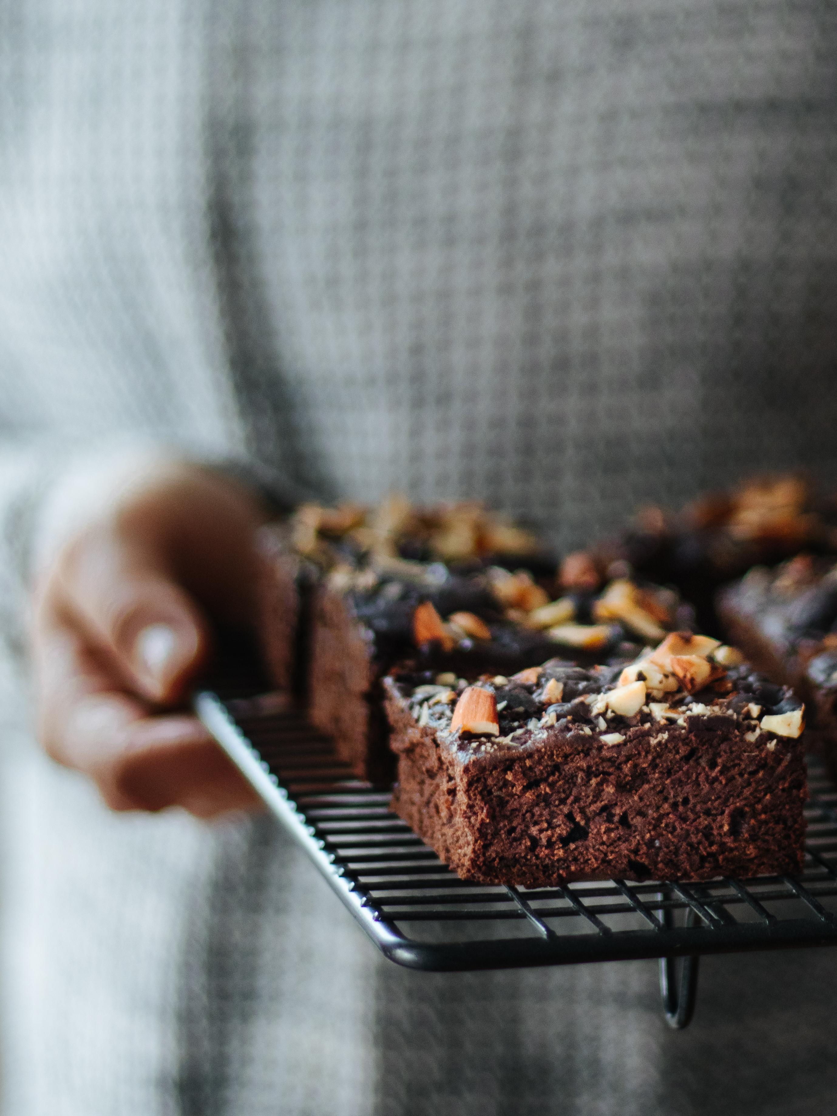 veganer glutenfreier Chocolate Brownie