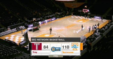 Lady Vols vs Troy