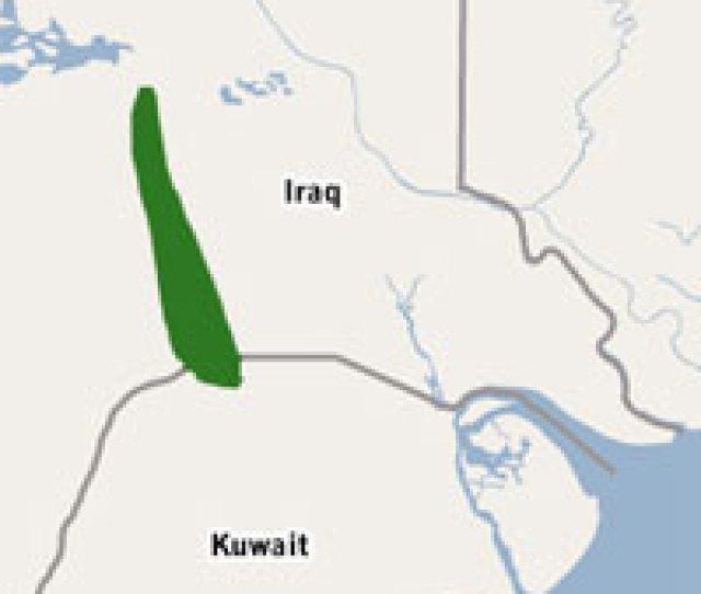 Rumaila Oil Field Located On Iraq Kuwait Border