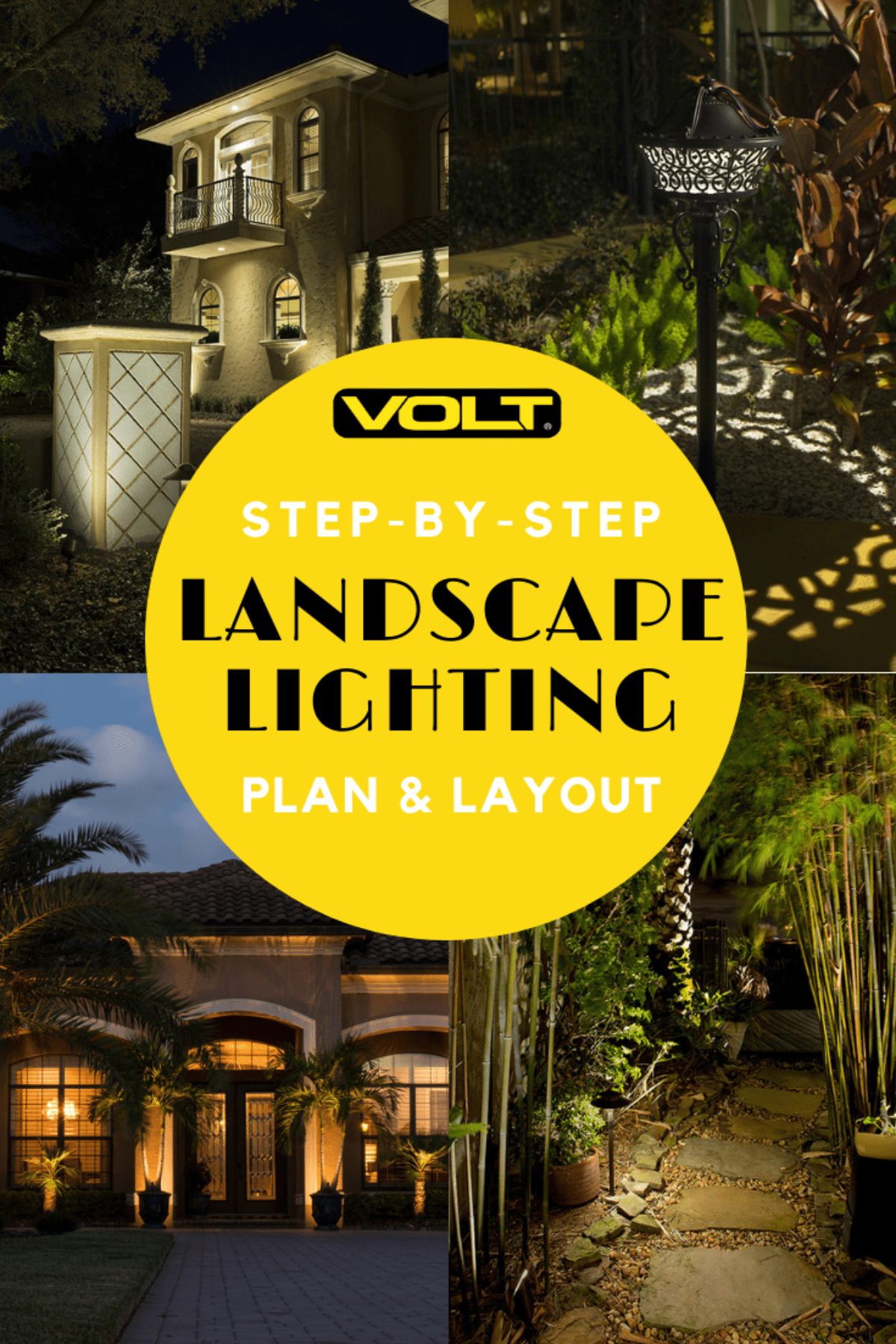 how to create a landscape lighting installation plan