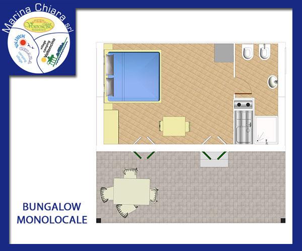 Bungalow Monolocale  Camping Village Voltoncino