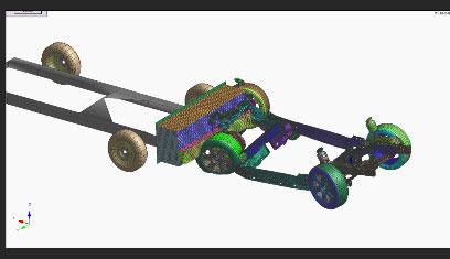 Crash test telaio automotive