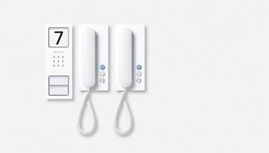 SIEDLE 210005095-00 Set CA 812-2 W Audio-Set Compakt weiß
