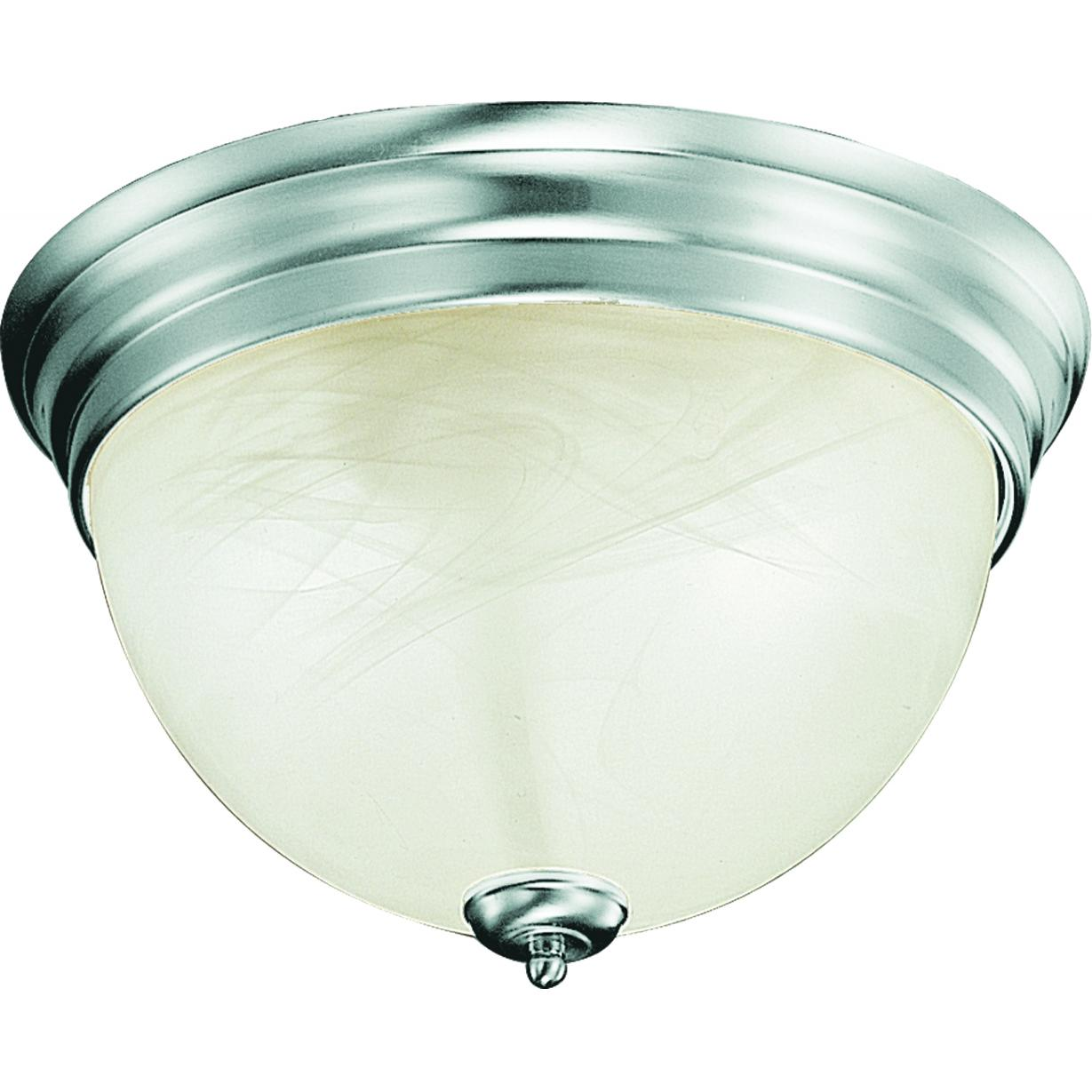 V7610-33 Troy 1-Light Indoor Brushed Nickel Flush Mount Ceiling ...