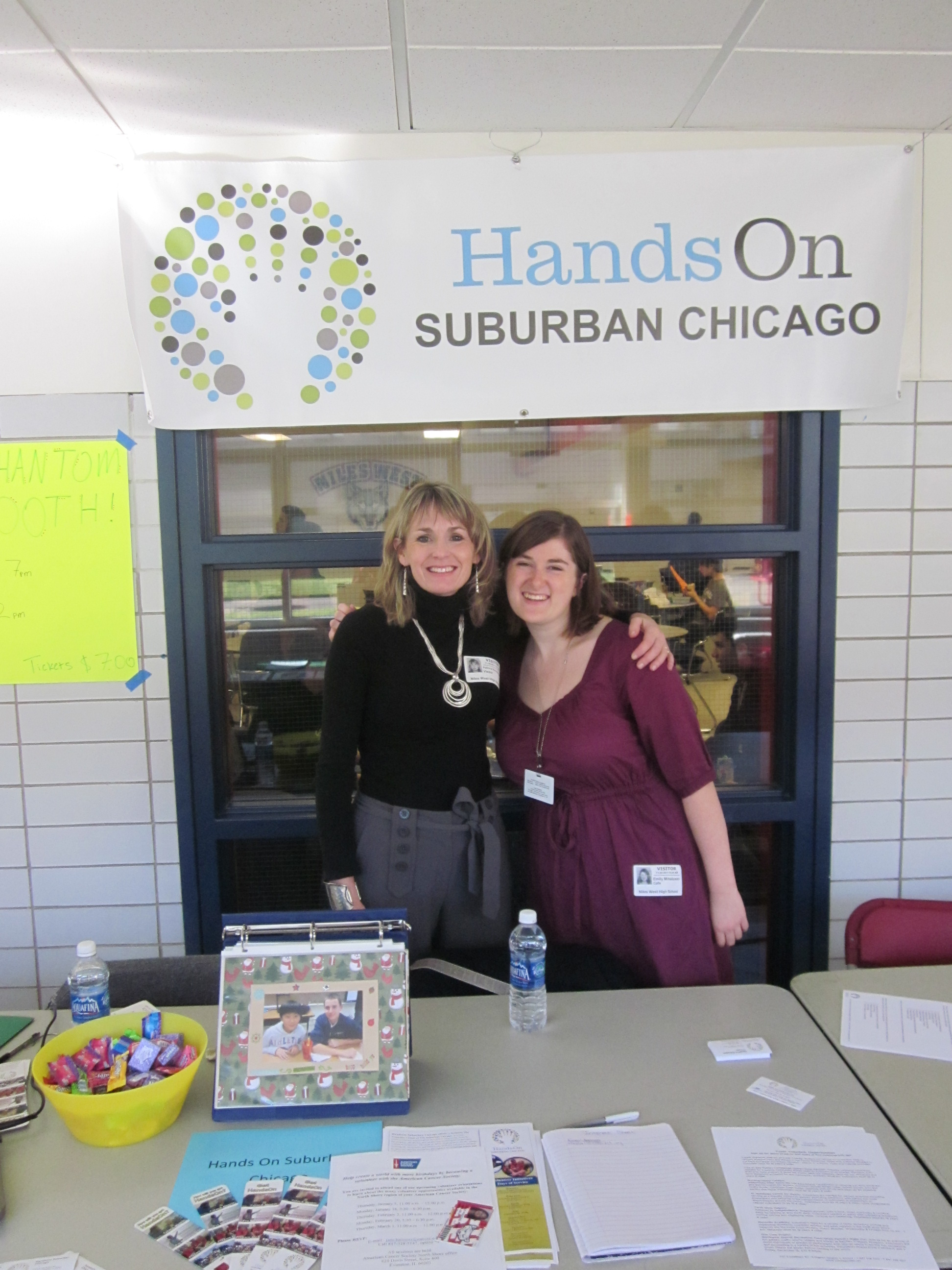 Patty Neuswanger And Emily Mihalcean Represent HandsOn Suburban Chicago At Niles West Student Volunteer Fair