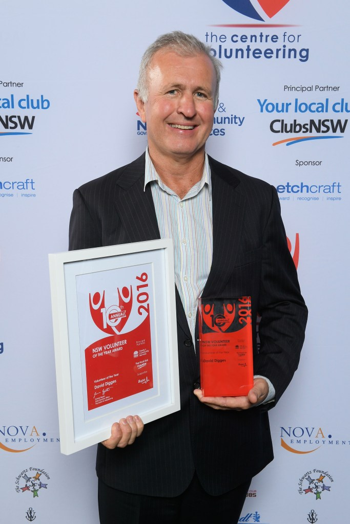 NSW Volunteer of the Year for 2016 Dr David Digges