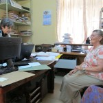 Dr. Borda and VICS volunteer in Dr. Borda's office