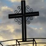 crucifix on gate entrance