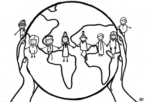 Volunteer in the world logo