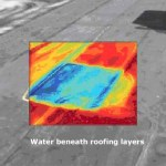Water Beneath Roofing layers image. Discovered solely due to use of Infrared Thermal Imaging