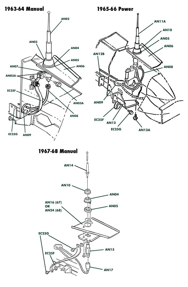 Antenna C2, Volunteer Vette Corvette Parts