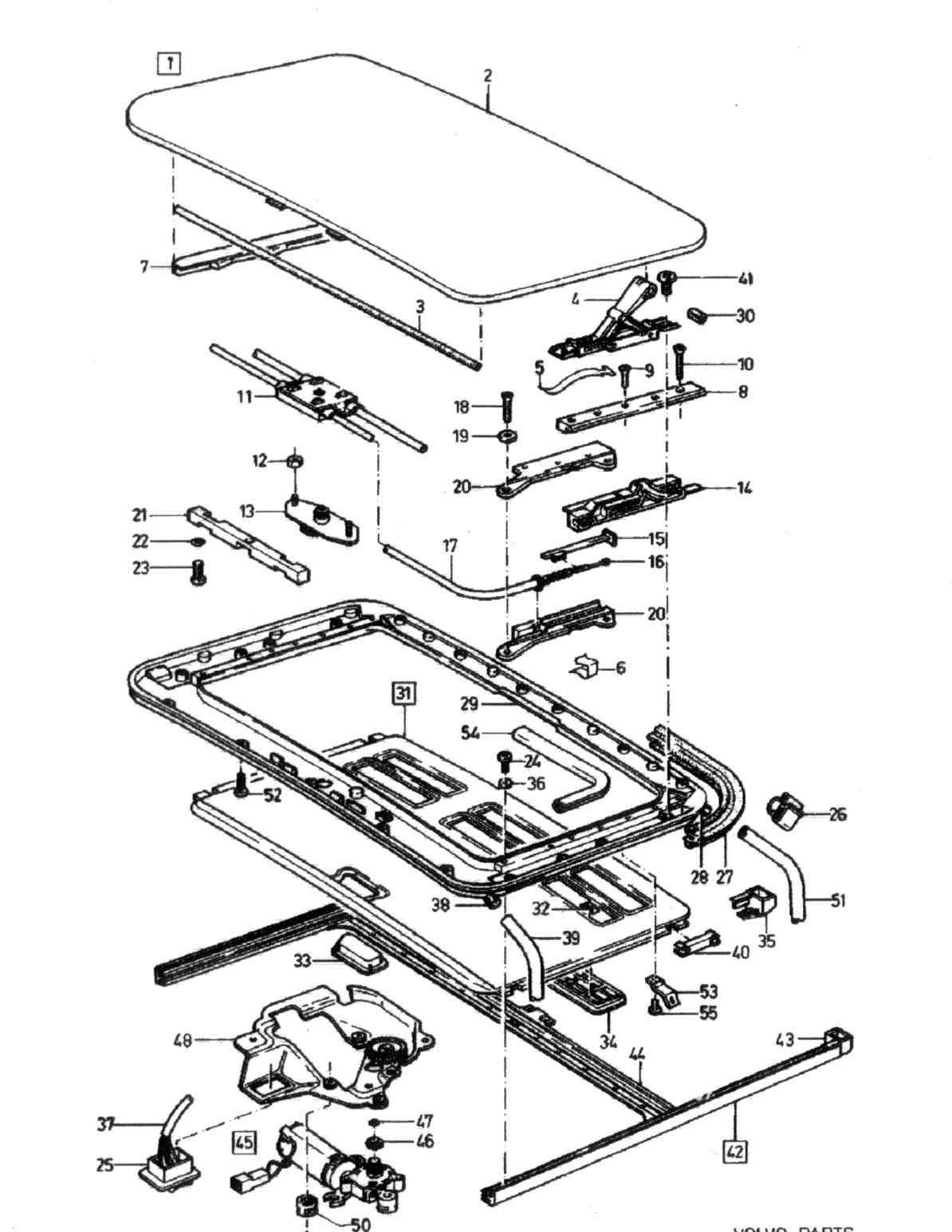 Volvo V70 Sunroof Parts Diagram. Volvo. Auto Wiring Diagram