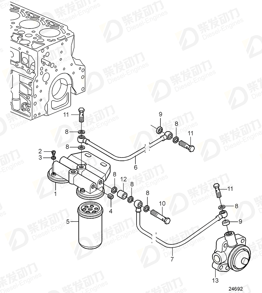 Volvo 20801706 Fuel filter housing 20801706 Fuel System