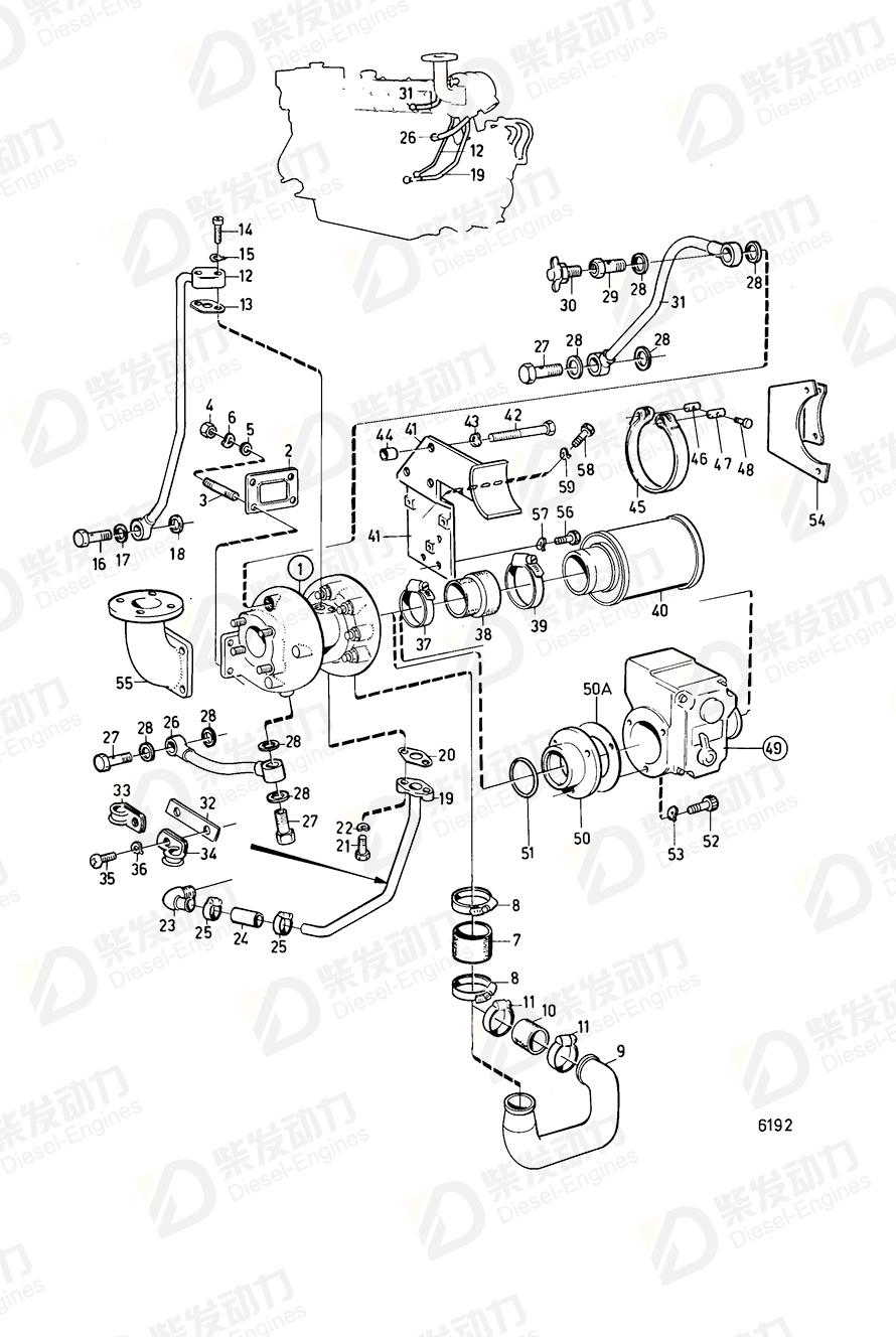 Volvo 3802012 Turbocharger 3802012 Cooling System spare