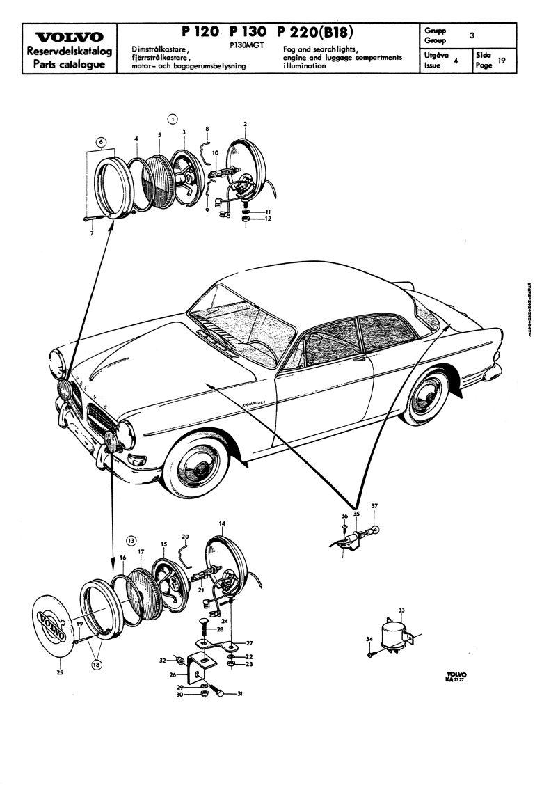 volvo 122 1967 wiring diagram